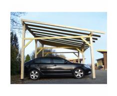 Habrita HABRITA - Carport double monopente avec préparation pour...
