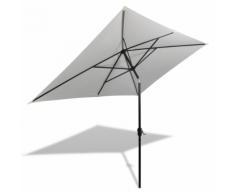 vidaXL Parasol 200 x 300 cm Blanc sable Rectangulaire