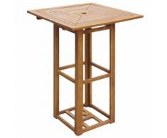 vidaXL Table de bar d'extérieur Bois d'acacia