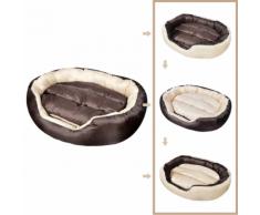 vidaXL Panier chaud pour chien 4-en-1 avec coussin rembourré taille L
