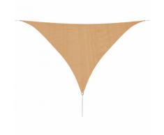 vidaXL Parasol en PEHD triangulaire 3,6x3,6x3,6 m Beige