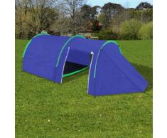 vidaXL Tente de camping imperméable 4 Personnes Bleu marin/vert