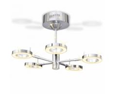 vidaXL Lustre à 5 ampoules sphériques LED