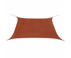 vidaXL Parasol en tissu Oxford carré 3,6x3,6 m Ocre marron