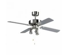 """Bestron Ventilateur de plafond 107 cm/42"""" 50 W DNHD42 gris argenté"""
