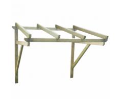 vidaXL Auvent de porte en bois 150 x 160 cm