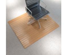 vidaXL Tapis protège-sol / chaise Bambou naturel 110 x 130 cm