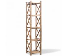 vidaXL Etagère à 5 paliers en bambou