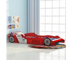 vidaXL Lit voiture pour enfants 90 x 200 cm Rouge