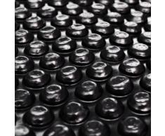 vidaXL Bâche solaire à bulles flottant pour piscine 10x5m noir Rectangulaire