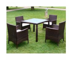 vidaXL ensemble meuble de jardin en poly rotin neuf pcs marron