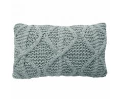 Overseas Oreiller tricoté 30 x 50 cm Givre