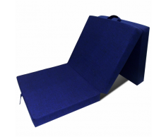 vidaXL Matelas en mousse pliable bleu 190 x 70 9 cm