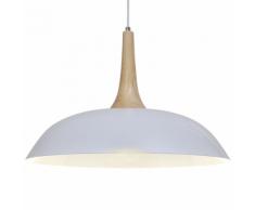 vidaXL Suspension Lampe en bois blanc d'acier