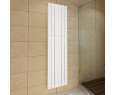 vidaXL Porte-serviette 465mm+ Radiateur panneau blanc Double épaisseur