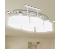 vidaXL Lustre/ Lampe de Plafond Contemporaine 6 Abats jours en verre