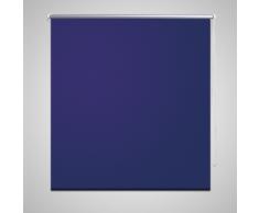vidaXL Store enrouleur occultant bleu 40 x 100 cm
