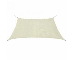 vidaXL Parasol en PEHD carré 3,6 x m Crème