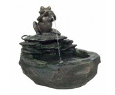Velda Fontaine de jardin Grenouille Gris 850841