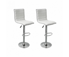 vidaXL Tabouret design White Spirit (lot de 2)