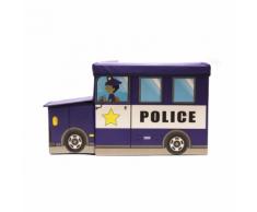 Jeux 2 Momes momes-Coffre de rangement camion police
