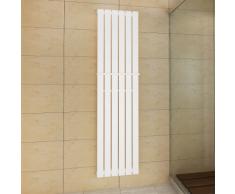 vidaXL Porte-serviette 465mm + Radiateur panneau blanc x 1800mm