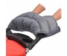 vidaXL Chauffe-main de poussette 55 x 25 cm Gris