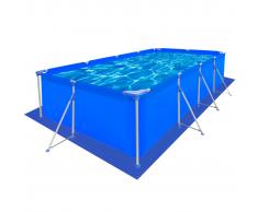 vidaXL Tapis de sol pour piscine en PE Rectangulaire 430 x 240 cm