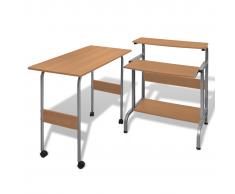 table pour imprimante reglable