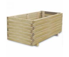 vidaXL Jardinière en bois rectangulaire 100 x 50 40 cm