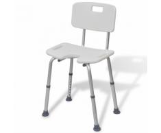 vidaXL Chaise de douche Aluminium Blanc