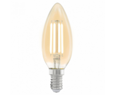 EGLO Ampoule LED style vintage E14 C37 Amber 11557
