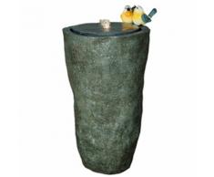 Velda Fontaine de jardin à vase haut avec oiseaux gris 850848