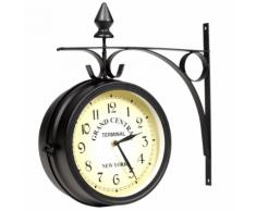 vidaXL Horloge de gare retro double face New York