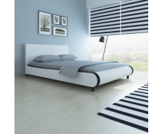 vidaXL Lit 140 x 200 cm Cuir artificiel Blanc