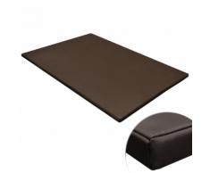 vidaXL Tapis plat rectangulaire pour chien marron taille XL