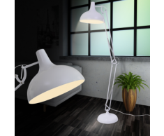 vidaXL Lampadaire style anglepoise Blanc