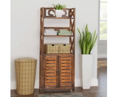 vidaXL armoire de salle bain bois albuquerque marron 46x24x117,5 cm