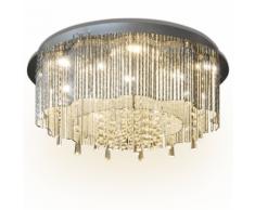 vidaXL Lustre Plafonnier LED en cristal Diamètre de 55 cm