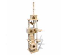 vidaXL Arbre à chat en beige 220-240 cm 3 niches