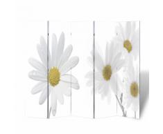 vidaXL Paravent 200 x 180 fleurs