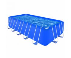 vidaXL Piscine rectangulaire avec cadre en acier 540 x 270 122 cm