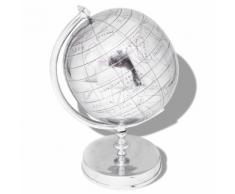 vidaXL Globe terrestre avec support Aluminium Argenté 42 cm