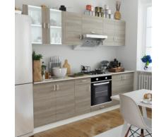 vidaXL Cuisine complète avec Four intégré 6 fonctions Aspect chêne