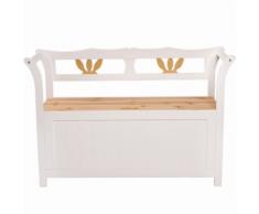 Not specified Banc de jardin en bois avec coffre 112 cm mobilier
