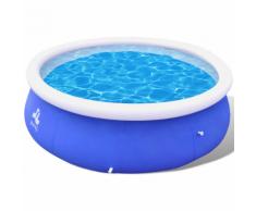 vidaXL Piscine gonflable 450 x 106 cm Bleu