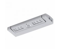 EGLO Réglette à piles 6 LED argentée Baliola 94684