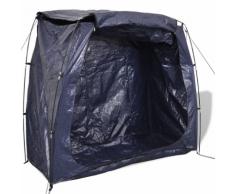 vidaXL Tente de rangement pour vélo 200 x 80 150 cm Bleu