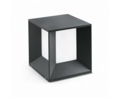 Faro - Borne carrée extérieure Mila LED IP65 H24 cm Gr