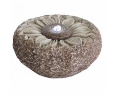 Velda Fontaine de jardin Tournesol Grise et marron 850809